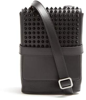 Christian Louboutin Benech Small Spike Embellished Cross Body Bag - Mens - Black