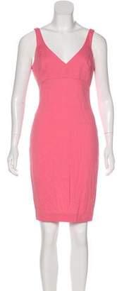 L'Agence V-Neck Knee-Length Dress