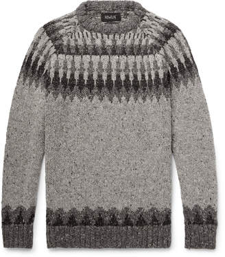 Howlin' - Before the Snowfall Fair Isle Donegal Wool and Mohair-Blend Sweater