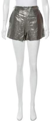 Elizabeth and James Metallic Linen Mini Shorts