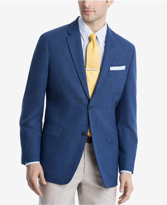 Tommy Hilfiger Royal Blue Weave Th Flex Stretch Modern-Fit Sport Coat
