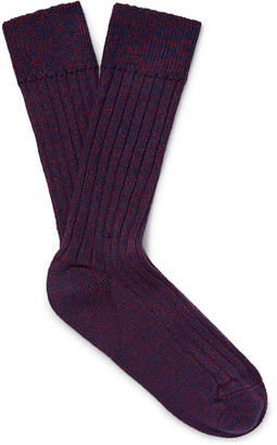 The Workers Club Mélange Merino Wool-Blend Socks $40 thestylecure.com