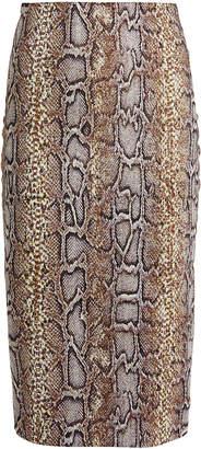 Victoria Beckham Jacquard Knit Python Pencil Skirt