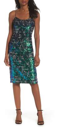 Adrianna Papell Sequin Tweed Dress