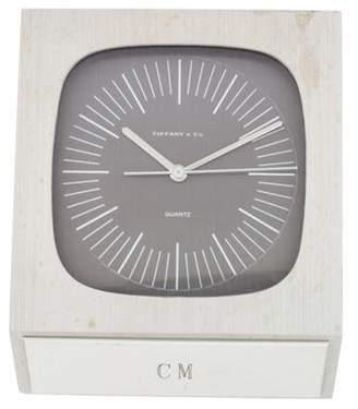 Tiffany & Co. Brushed Nickel Desk Clock Brushed Nickel Desk Clock