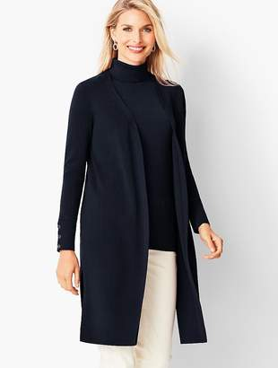 Talbots Open-Front Ribbed Duster