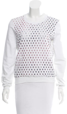 Carven Carven Cutout-Accented Long Sleeve Sweatshirt