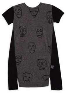 Nununu Toddler's, Little Girl's& Girl's Skull Mask Dress