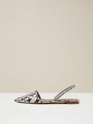 Diane von Furstenberg Koko Watersnake Leather Slingback Flats