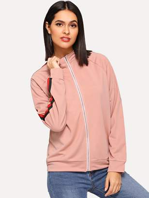 Shein Color Block Raglan Sleeve Jacket