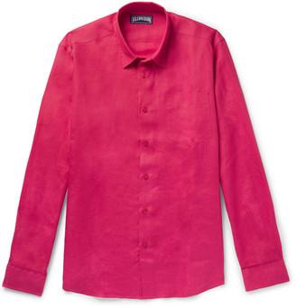 Vilebrequin Caroubis Linen Shirt - Men - Pink