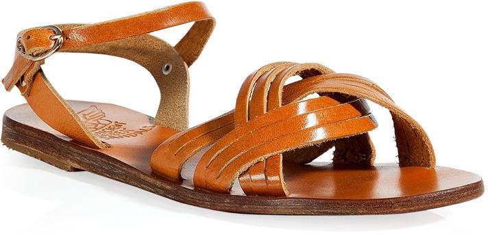 Ancient Greek Sandals Amber Electra Flat Sandals