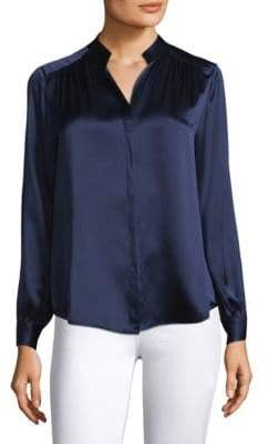 L'Agence Bianca Silk Charmeuse Blouse