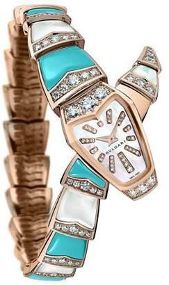 Bvlgari Serpenti Diamond & Turquoise Watch