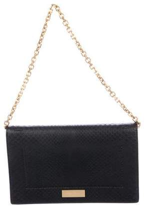 Calvin Klein Collection Python Logo Shoulder Bag