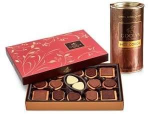 Godiva Chocolatier Dark Chocolate Hot Cocoa & Biscuit Gift Set