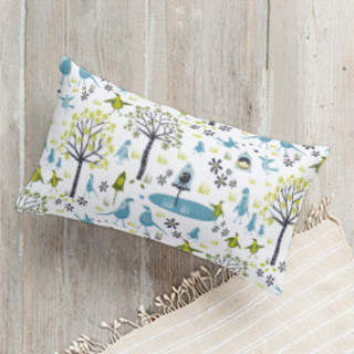 Lakeside Birds Self-Launch Lumbar Pillows