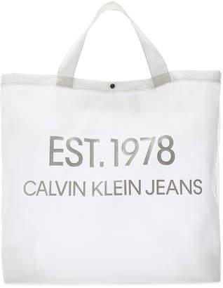 Calvin Klein Est. 1978 Logo Big Tote in Transparent   FWRD