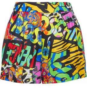 Moschino Printed Silk-Twill Shorts