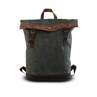 EAZO - Waxed Canvas Folded Top Backpack Teal