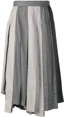 Thom Browne Altered Pleat Midi Skirt