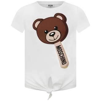 Moschino MoschinoGirls Ivory Lollipop Teddy Tie Up Top