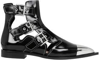 Alexander McQueen Cutout Leather Boots