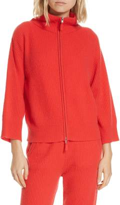 Allude Turtleneck Cashmere Zip Cardigan