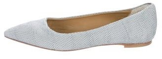 UGG Australia Snakeskin Pointed-Toe Flats $85 thestylecure.com