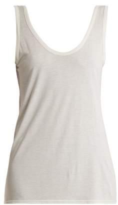 The Row Thomaston Jersey Tank Top - Womens - White