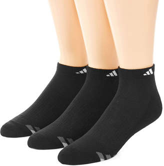 adidas 3-pk. Mens Athletic Cushioned Low Cut Socks - Extended Size