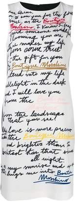 Moschino Love Letter print dress