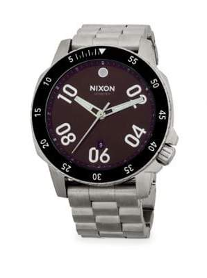 Nixon Round Stainless Steel Bracelet Watch
