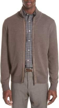 Canali Merino Wool Zip Cardigan