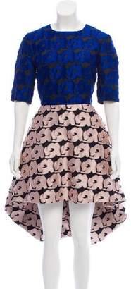 Christian Dior Fil Coupé High-Low Dress