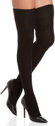 Max Mara Black Cable Knit Over-the-Knee Socks