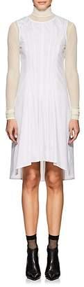 MM6 MAISON MARGIELA Women's Pleated-Front Pinstriped Cotton Poplin Shirtdress