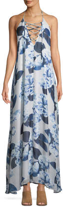 Show Me Your Mumu Logan Lace-Up Floral Maxi