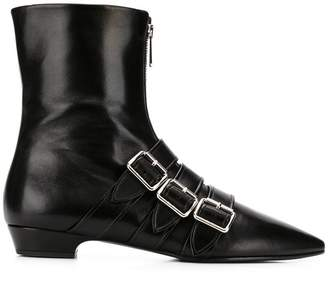 Miu Miu decorative straps ankle boots