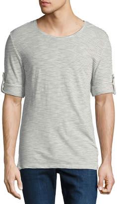 Antony Morato Men's Striped Roll-Sleeve Tee