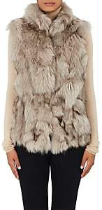 Barneys New York Women's Fur Vest-Gray, Taupe