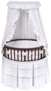 Badger Basket Elite Bassinet with Eyelet Bedding
