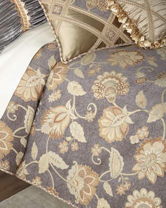 Dian Austin Couture Home Golden Garden Floral Queen Duvet