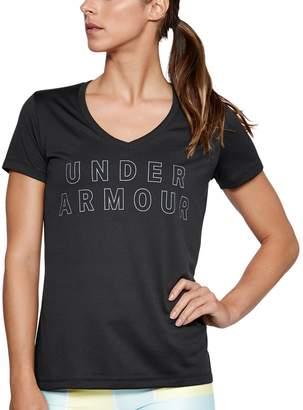 Under Armour Women's Tech V-Neck Twist Graphic Tee