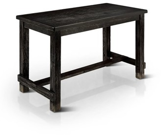 Furniture of America Freiden Rustic Counter Height Dining Table, Antique Black