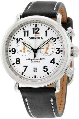 Shinola The Runwell Chrono Dial Black Leather Men's WatchItem No. S0100098