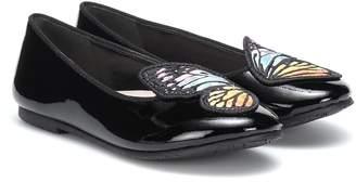 Sophia Webster Mini Bibi Butterfly leather ballet flats