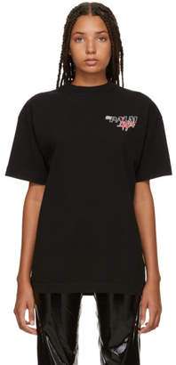 Palm Angels Black Racing Logo T-Shirt
