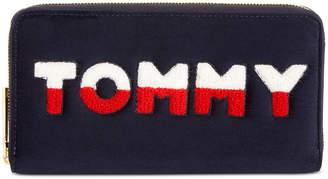Tommy Hilfiger Tommy Velvet Zip Around Wallet