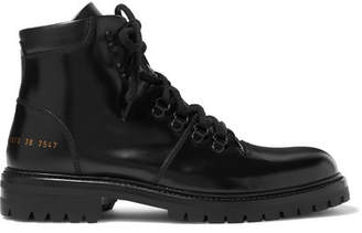 Common Projects Hiking Leather Ankle Boots - Black